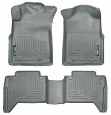 Husky Liners WeatherBeater Floor Mats-3pc- 98952- Toyota Tacoma Double Cab -Grey