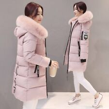 Fashion Women Long Down Cotton Parka Fur Collar Hooded Coat Winter Warm Jacket B