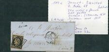 À VOS OFFRES ! [118] CERES lettre n°3 noir sur fauve cursive Banon signé Jf Brun