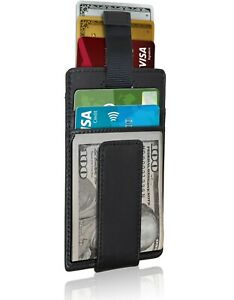 Slim Wallets For Men Magnetic Money Clip Minimalist Mens Wallet RFID Blocking