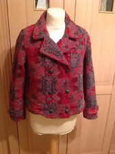 GREAT & OTHER STORIES RED & BLACK JACKET UK SIZE 12 WORN GOOD CONDITION