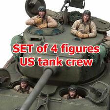 1/16 Set of 4 Figures US Tank Crew (KIT) for Heng Long Sherman, Pershing tank