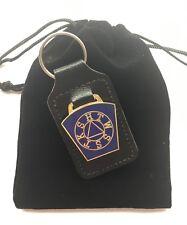 Mark Master Key Stone Masonic Order Enamel Crested Key Ring with Gift Bag