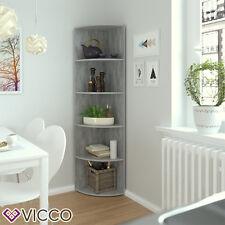 VICCO Eckregal ECKI Grau Beton - Küchenregal Badregal Wohnzimmer Dekoregal Regal