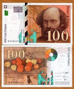 France, 100 francs, 1997, Pick 158  Last pre-Euro, UNC