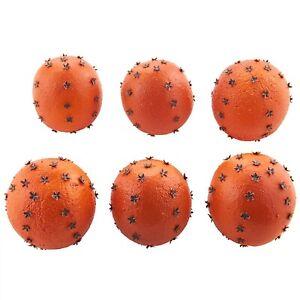 New Raz Bag Of 6 Artificial Oranges With Cloves Pomanders 4002263