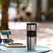 NEW Starbucks Coffee Classic Stainless Steel LUCY Slim Travel Mug Tumbler - 12oz