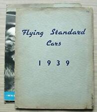 STANDARD CAR RANGE Sales Brochure 1939 NINE Ten TWELVE DHC Fourteen TWENTY V8 +