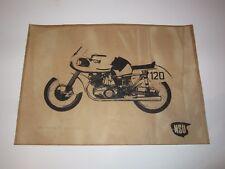 VINTAGE POSTER NSU RENNMAX 1953 SILHOUETTE MOTORRAD BIKE ROCKER S/W PAPPE KARTON