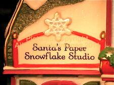 Dept 56 North Pole Santa'S Paper Snowflake Studio! 56956 NeW! Mint! FabUloUs!