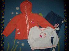 Kids Headquarters Outfit 3pc Set Jacket Shirt Pants Girls 4Toddler