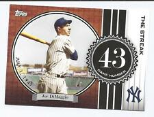 2007 Topps The Streak  JOE DIMAGGIO  GAME 43