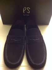 PAUL SMITH Mens Navy Suede Tubbs Hand Sewn Moccasin Shoe UK 9 EU 43 US 10 NEW