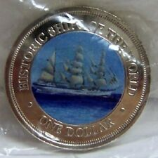 COOK ISLANDS SSS GORCH FOCK SHIP COLOR COIN uncirculated