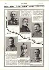 1914 German Wanton Destruction Liege German Army Commanders