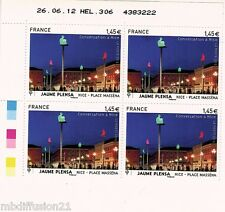 2012//BLOC DE 4 COIN DATE NEUF**PLACE MASSENA-STATUE.NICE'''TIMBRE Y/T 4683