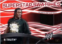WWE R-Truth RED Topps 2011 Superstar Swatches Event Used Relic Card SN 1 of 1