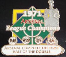 ARSENAL FC Victory Pins 1971 LEAGUE CHAMPIONS Danbury Mint badge 38mm x 35mm