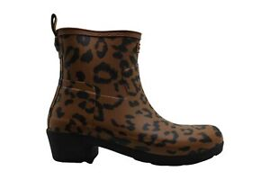 Hunter Womens Thicket Rubber Closed Toe Ankle Rainboots, hybrid print, Size 7.0
