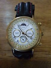 MEN'S SEKONDA LUNAR CALENDAR QUARTZ WATCH WRISTWATCH