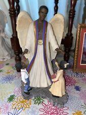 Homco Black African American Angel/Kids Figurine~ Protecting The Innocent~#11772
