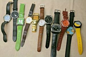 Mens Wristwatches Need batteries for Spares or Repair 11 watch job lot bundle