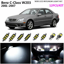 12Lamps Super White 6000K Interior Light Kit LED Fit 2001-2007 Benz C-Class W203