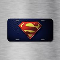 Superman Super man DC Comics Super Hero Vehicle License Plate Front Auto Tag NEW