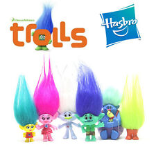 6 Hasbro Dreamworks Movie Trolls Action Figures Doll Kids Figurines Play Set Toy