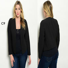 C9 New Womens Black Plus Size 16/18 Blazer Open Jackets Party Work Office Spring