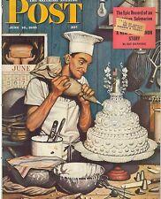 The Saturday Evening Post June 16 1945 Stevan Dohanos Vintage Birthday Gift