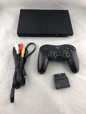Sony Playstation Slim PS2 Console, AV Wire, Wireless Controller