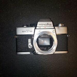 Silver Minolta SRT101 35mm Film SLR Camera Body Only - Tested Works