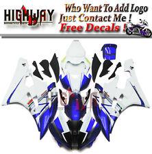 ABS Fairings For Yamaha YZF R6 2006-07 Bodywork Fairing Kit White Blue Plastic