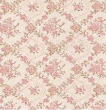 Klebefolie - Möbelfolie Rosa Blumenranken - Biedermeier Optik -  45 cm x 200 cm