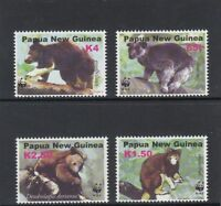 PAPUA NEW GUINEA  2003 ENDANGERED SPECIES - TREE KANGAROO WWF set of 4  MNH