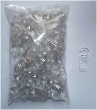 Faltenhaken Gardinenhaken transparent für große Holz + Kunststoff Ringe
