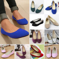 Women Ballerina Pointed Toe Ballet Dolly Pumps Flats Loafer Casual Slip On Shoes