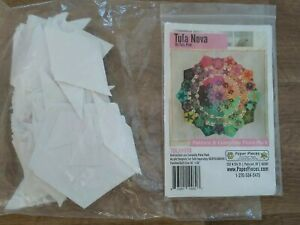 Tula Pink Tula Nova EPP quilt pattern with papers (incomplete)