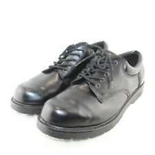 SAFE T STEP mens work shoes size 15 wide black lace up faux leather upper great