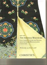 CHRISTIE'S Imperial Wardrobe Chinese Costumes Wrigglesworth Coll Auction Catalog