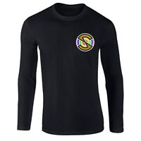 Captain Scarlet Spectrum T-shirt, Superhero Inspired Embroidered Longsleeve Top