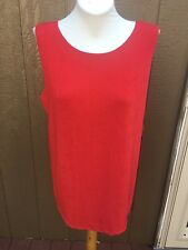 New Soldout Chico's Travelers Stiletto Red Reversible Tank Top 3 = XL 16 18 NWT
