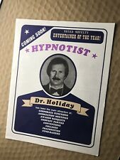 Stage Hypnosis Doc Holiday Promo Material Magic!