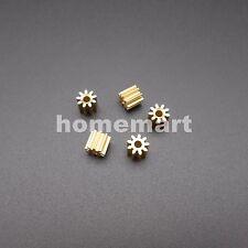 5PCS 0.5M Brass Gear 0.5 Modulus 9 Teeth Aperture 2mm 1.95MM 9T T=9 9T2A 5X5.5MM