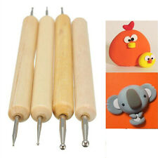 4pcs Ball Stylus Polymer Clay Pottery Ceramics Sculpting Modeling Tools 2017