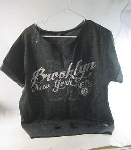 NEW NBA 4HER BY UNK BROOKLYN NEW YORK NETS WOMEN  SIZE M  ***