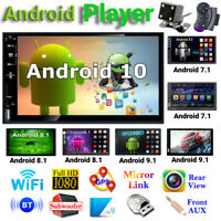 """7"""" 2 Din Android 7.1-10.1 GPS Nav WiFi Quad Core Car Stereo MP5 Player FM Radio"""