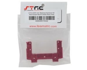 STRC Part : Axial SCX10 II  Chassis Brace Red Aluminum Upgrade Rear Bumper Mount