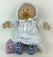 Cabbage Patch Kids Preemie Doll w Pacifier and Full Outfit Brown Eye Coleco 1982